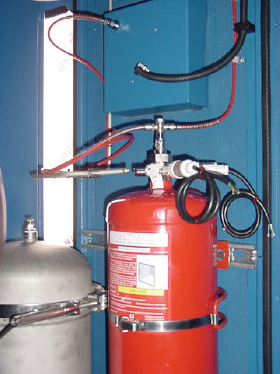 Automatic fire suppression system rail industry firetrace